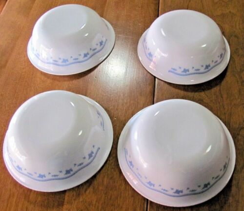 """Corelle Corning Ware 6 1/4"""" MORNING BLUE Cereal Bowls Set of 4"""