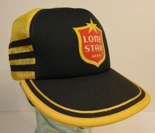 Rare Old Vintage 1980s Lone Star Beer Snapback Trucker Hat Cap 3 SIDE STRIPES