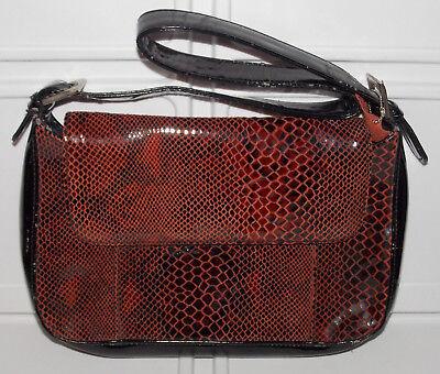 f45e0792df M.C. Marc Chantal Brown Leather Purse Handbag Croc Alligator Shoulder Strap  Bag