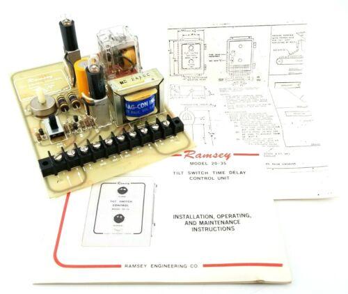 Ramsey Model 20-35 Tilt Switch Time Delay Control Board, 115Vac, 50/60Hz
