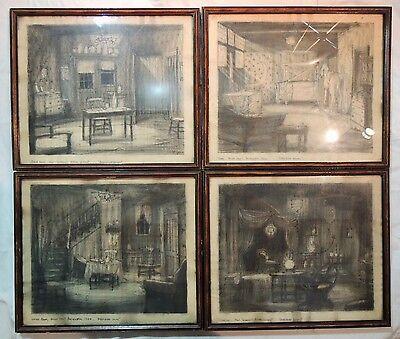 'Darkened Rooms' Original 1929 Movie Set Concept Art - Spirit Photography Film