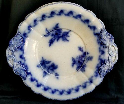 "15"" ANTIQUE FLOW BLUE C.1842 MINTON BB NEWSTONE PLATTER SERVING ENGLAND ENGLISH"
