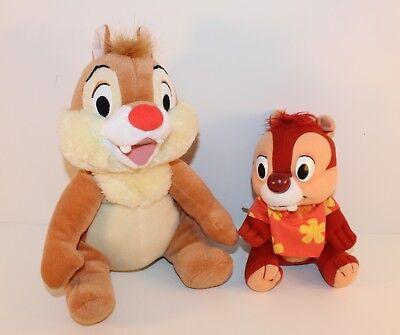 2x Disney CHIP und CHAP Chip'n'Dale A-Hörnchen B-Hörnchen Plüsch Kuschel 28+19cm