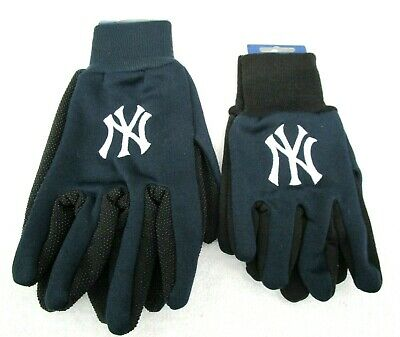 Set of Father&Son NY Yankees Team Logo Licensed MLB Sport Utility Gloves-New!