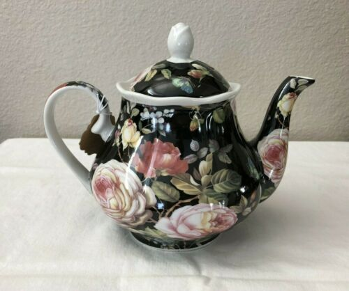 Kent Pottery Ashley Grace Collection Teapot Moonlit Rose Chintz