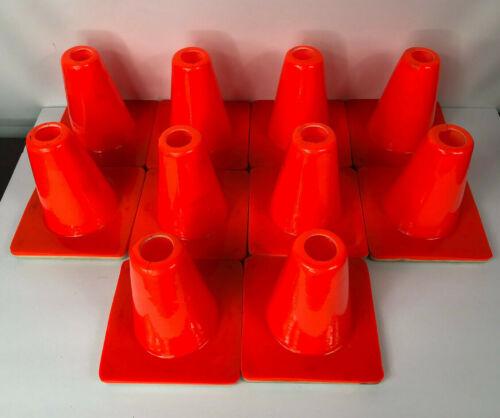 """6"""" Mini Orange Traffic Cones Lot of 10"""