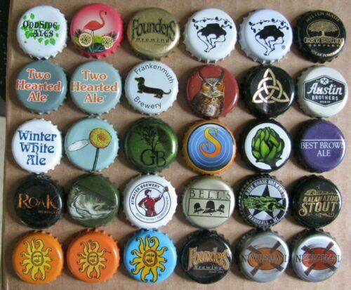 30 DIFFERENT MICHIGAN BREWS MICRO CRAFT BEER BOTTLE CAPS LOT #1
