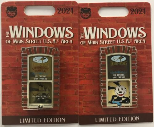 Disney WDW 2021 The Windows of Main Street Oswald the Lucky Rabbit LE Pin