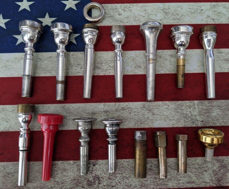 Cornet &Trumpet Mouthpiece Lot - 11 plus MISC (inventory A-11)