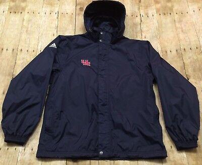 Houston Cougars Jacket Adidas 2005 Basketball Windbreaker Hooded NCAA College ()