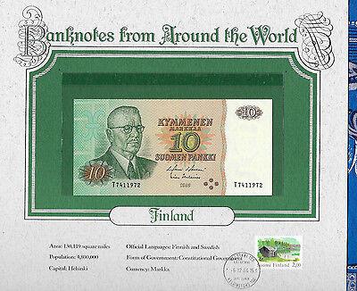 World Banknotes Finland 1980 10 Markkaa P 111a.45 UNC Holkeri-Helenius Birthday