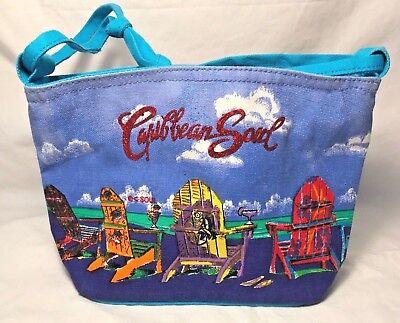 Caribbean Soul Adirondack Chairs Handbag By Sun N Sand Accessories Beach Theme - Beach Themed Accessories