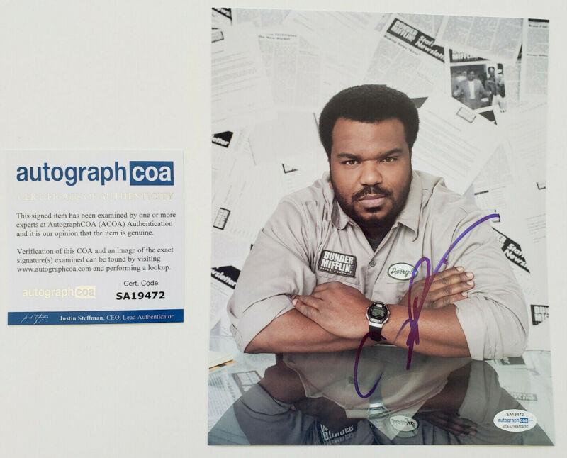 Craig Robinson Signed 'The Office' DARRYL 8x10 Photo EXACT Proof ACOA A