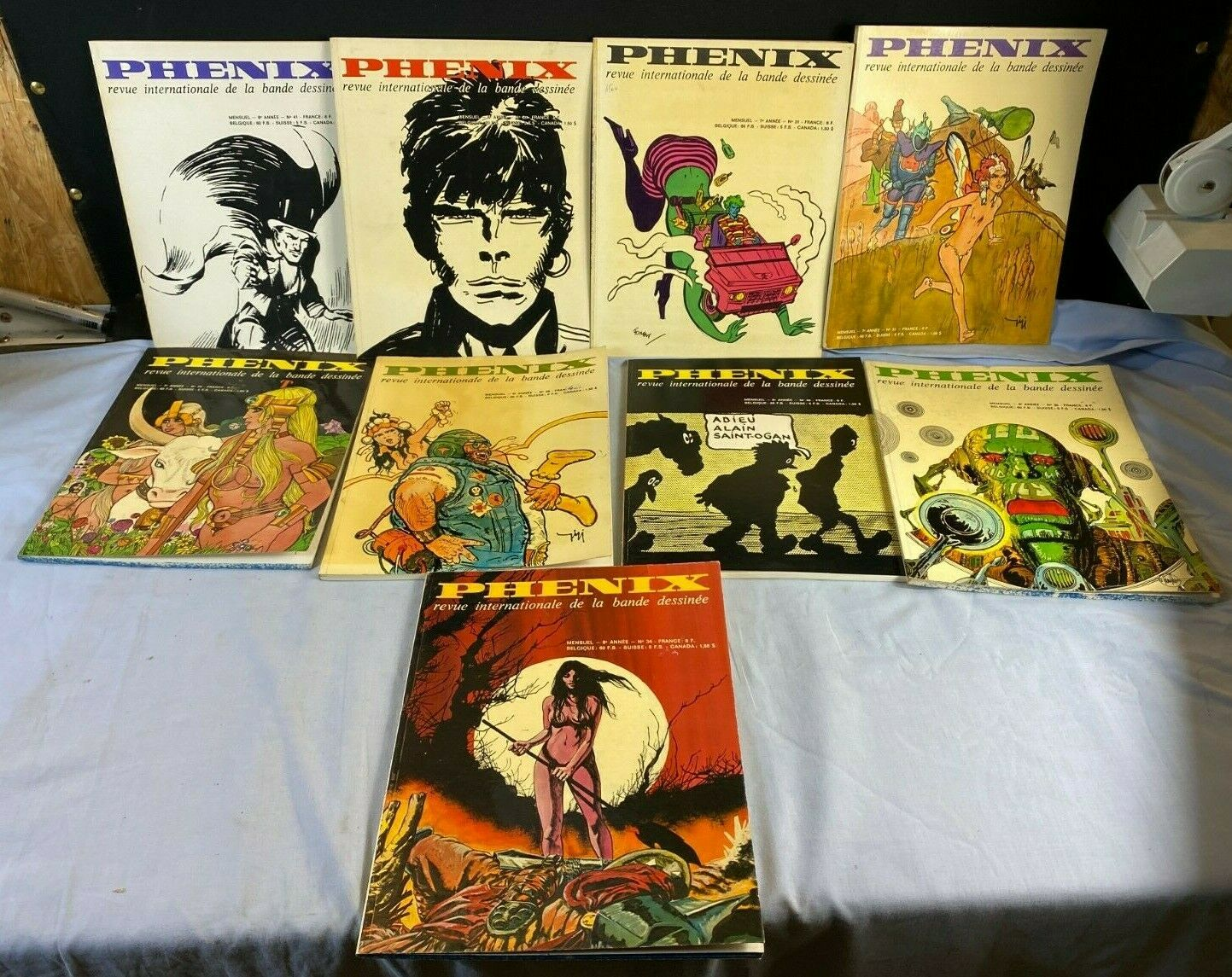 Lot 9 phenix revue internationale de la bande dessinee collection magazine c4
