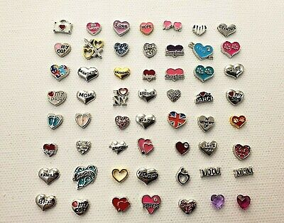 Floating Charms 50+ STYLES  for Living Locket Sister Mom Buy 5 Get 2 Free!