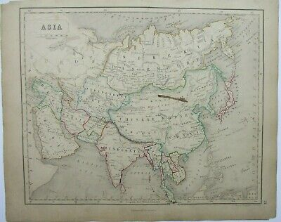Antique Map of Asia by William & Robert Chambers 1845