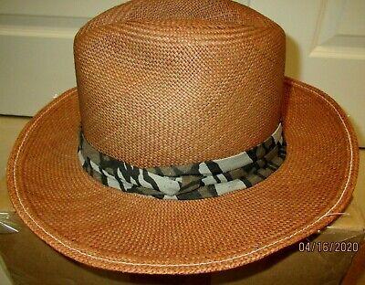 Brown Panama Straw Hat Woven in Ecuador XL/XXL