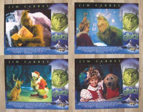 THE GRINCH 2000 Original lobby card set Jim Carrey Christmas comedy classic