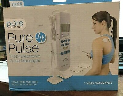 Purepulse Electronic Pulse Massager - Portable Handheld Tens Unit Muscle New