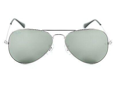 Ray Ban RB3025 Aviator Classic W3275 Silver Frame/ Grey Mirror Glass Lens Unisex