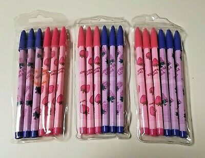 18 Fruit Themed Scented Non Sharpening Pencils 3 Packs Of 6 Lead Back Refill Nip