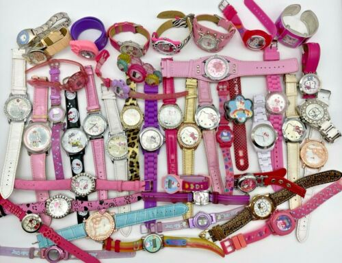 Lot of 43 HELLO KITTY Watches, Adult and Kids, Quartz, Analog & Digital