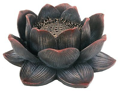 Lotus Incense Burner and Candle Holder Buddhist Flower HOME DECOR