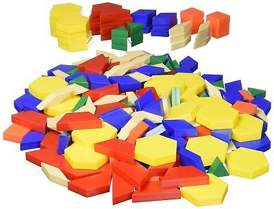 ETA Cuisenaire 4414B Pattern Blocks Set 250 Package 1 CM Manipulatives Hand2Mind