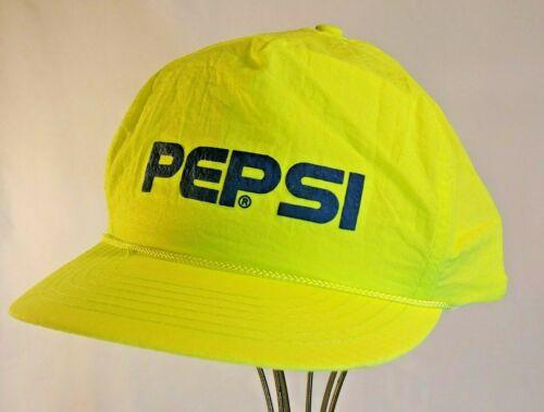 Vintage Yellow PEPSI HAT Snap Back Baseball Trucker Cap Le Sport Advertising