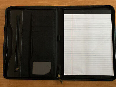 Leeds Durahyde Writing Pad 8.5 X 11 Black 0600-01 Portfolio Notepad