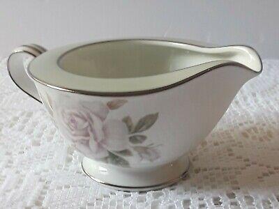 Noritake China Japan 5321 Cascade Green Edge White Rose Creamer Japan China White Rose