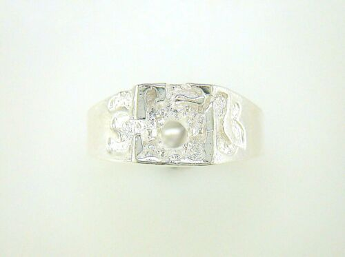 Mens Round One Stone Ring Setting Sterling Silver