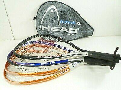 Wilson Headset (Set of 4 Racquetball Racquets Wilson Xpress Head GXL Head Ti.Flash w/ One Case )