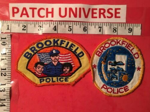 LOT OF TWO DIFFERENT BROOKFIELD ILL  POLICE SHOULDER PATCHES  S093