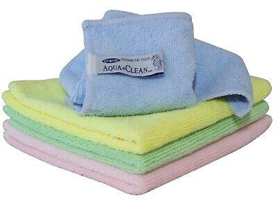 AQUA CLEAN Mikrofaser Kosmetik Tücher 4er Set bunt Abschmink Tuch Peeling