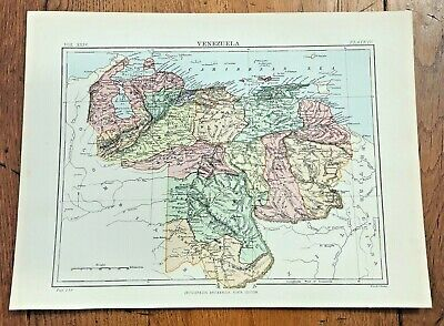 circa 1880s map of venezuela !  ( adam & charles black )