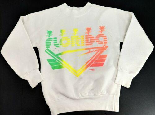 Vintage 80s Florida Souvenir Kids Sweatshirt by LOVE Size 10-12 Ladies XXS
