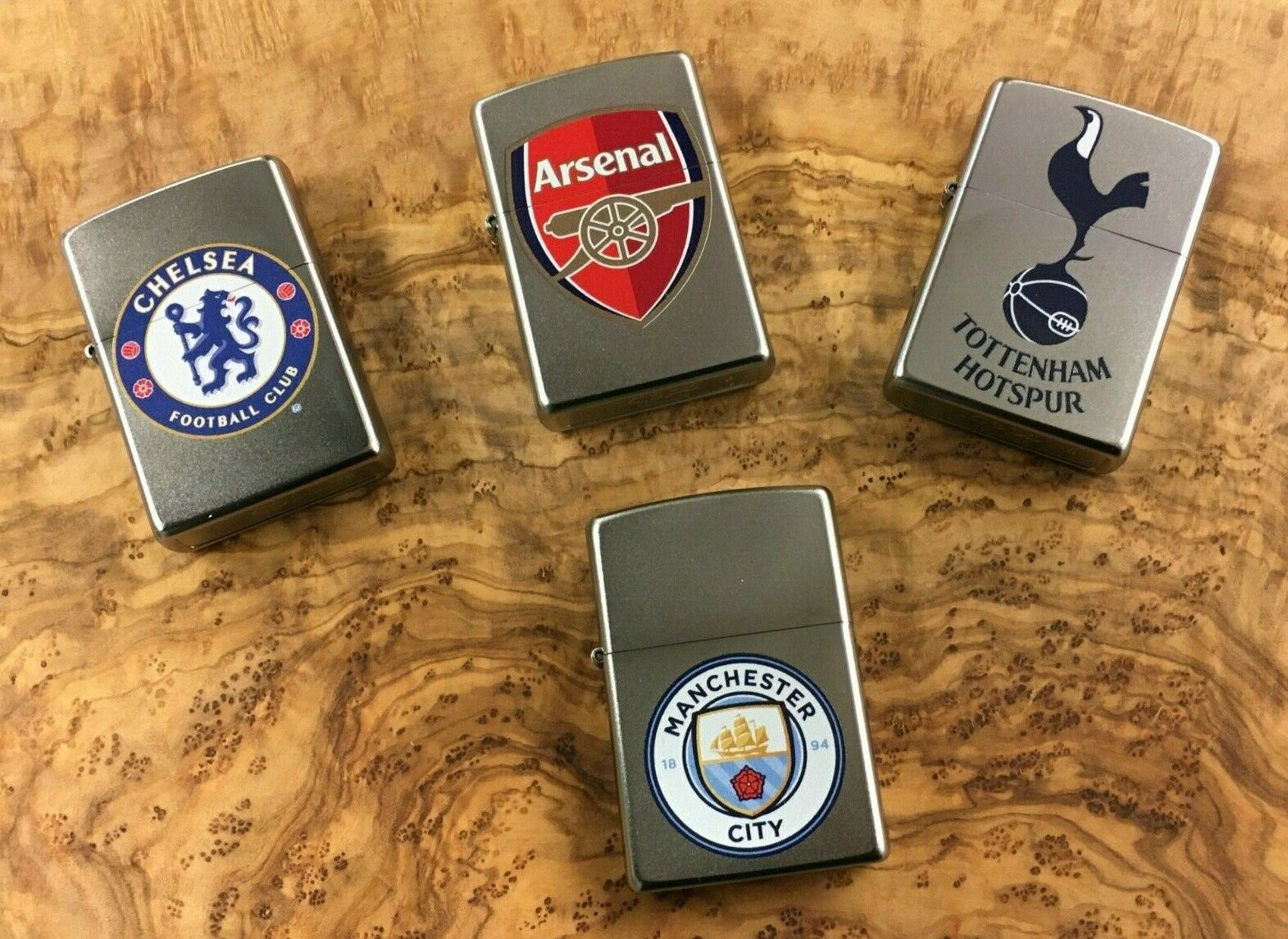 Personalised Premier League Football Zippo Lighters Engraved