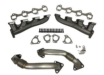 PPE RACE Exhaust Manifolds with Up-pipes for 2001-2017 GM Diesel Duramax 6.6L