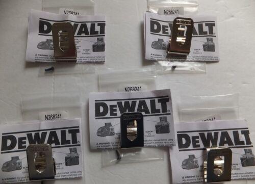 5 PACK Genuine DeWALT Belt Clip Hook  20V Drill Driver N268241 N169778