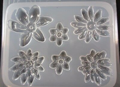 Resin Mold Flower Medallions 6 Counts Jewelry Earrings Chocolate Fondant (Medallion Resin)