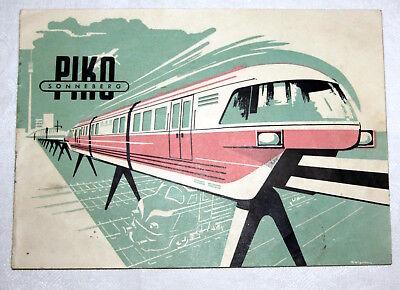 Piko Einschienenbahn/ Monorail ab 1963 Bedienungsanleitung/Beschreibung