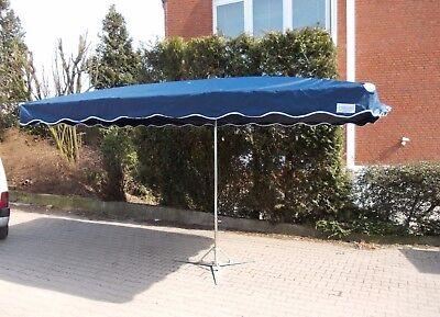 NEU 3 x 4 m Marktschirm Marktstand Umbrella Schirm Sonnenschirm in Marineblau  (Markt Sonnenschirm Blau)