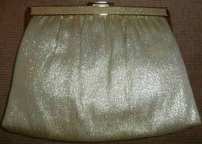 Andè GOLD LAME/METALLIC VINTAGE PURSE~CLUTCH~HANDBAG~HOLIDAY~CHRISTMAS~PRETTY!!