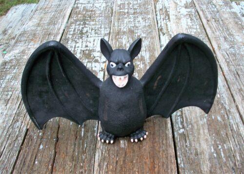 Black Halloween Bat Figurine Prop