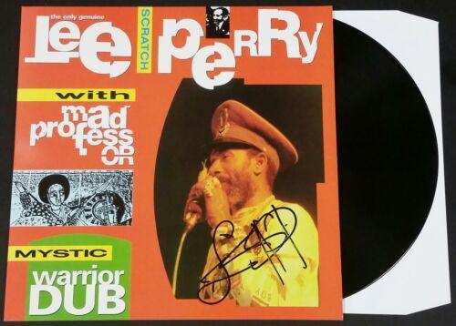 LEE SCRATCH PERRY SIGNED MYSTIC WARRIOR DUB LP VINYL RECORD ALBUM W/ JSA CERT