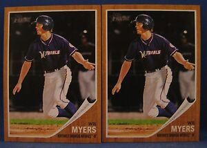 WIL MYERS 2011 TOPPS HERITAGE MINORS #6 TWO CARD LOT TAMPA BAY RAYS ROOKIE LOT