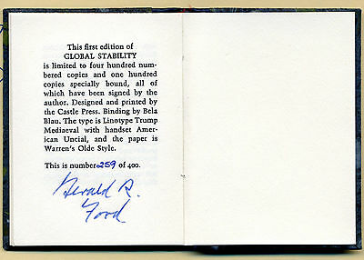 Gerald R. Ford Rare Signed Limited Edition of Miniature Book Global Stability
