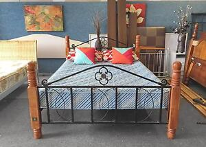 TODAY DELIVERY BEAUTIFUL FRENCH Queen bed & COMFORTABLE mattress Belmont Belmont Area Preview