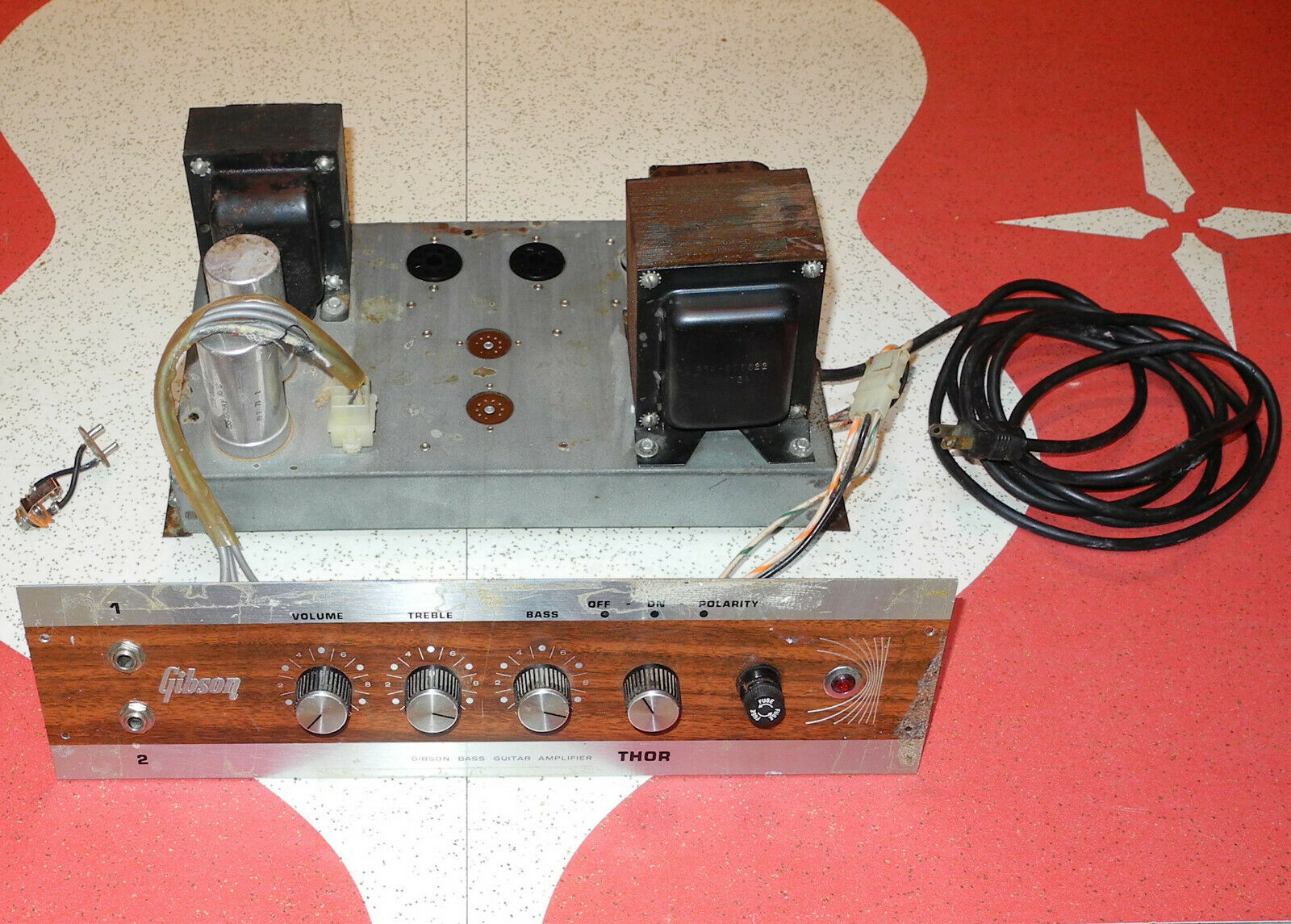 Vintage Gibson Thor 50 Watt Tube Bass Guitar Amp Chassis Project  - $149.99